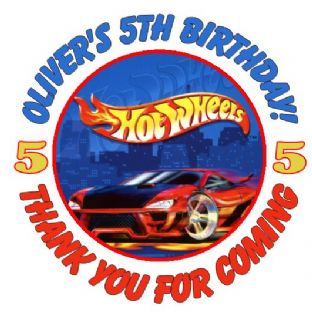 Personalised Hot Wheels Party Stickers